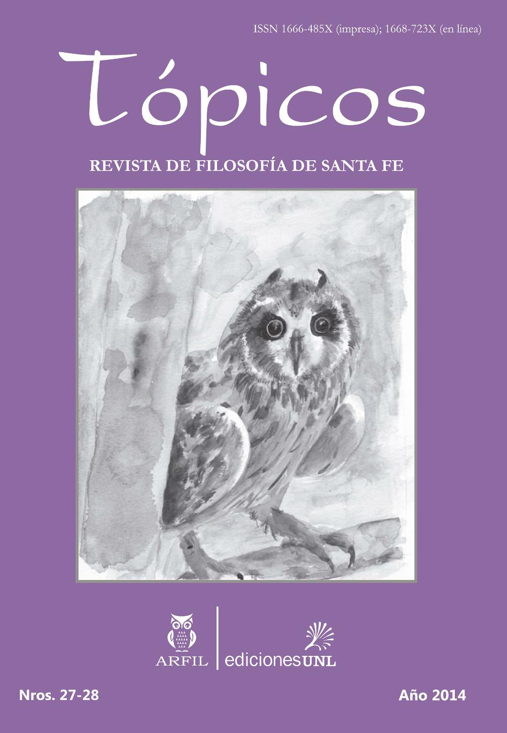 Imagen de tapa de Revista Tópicos Nº 27-28.