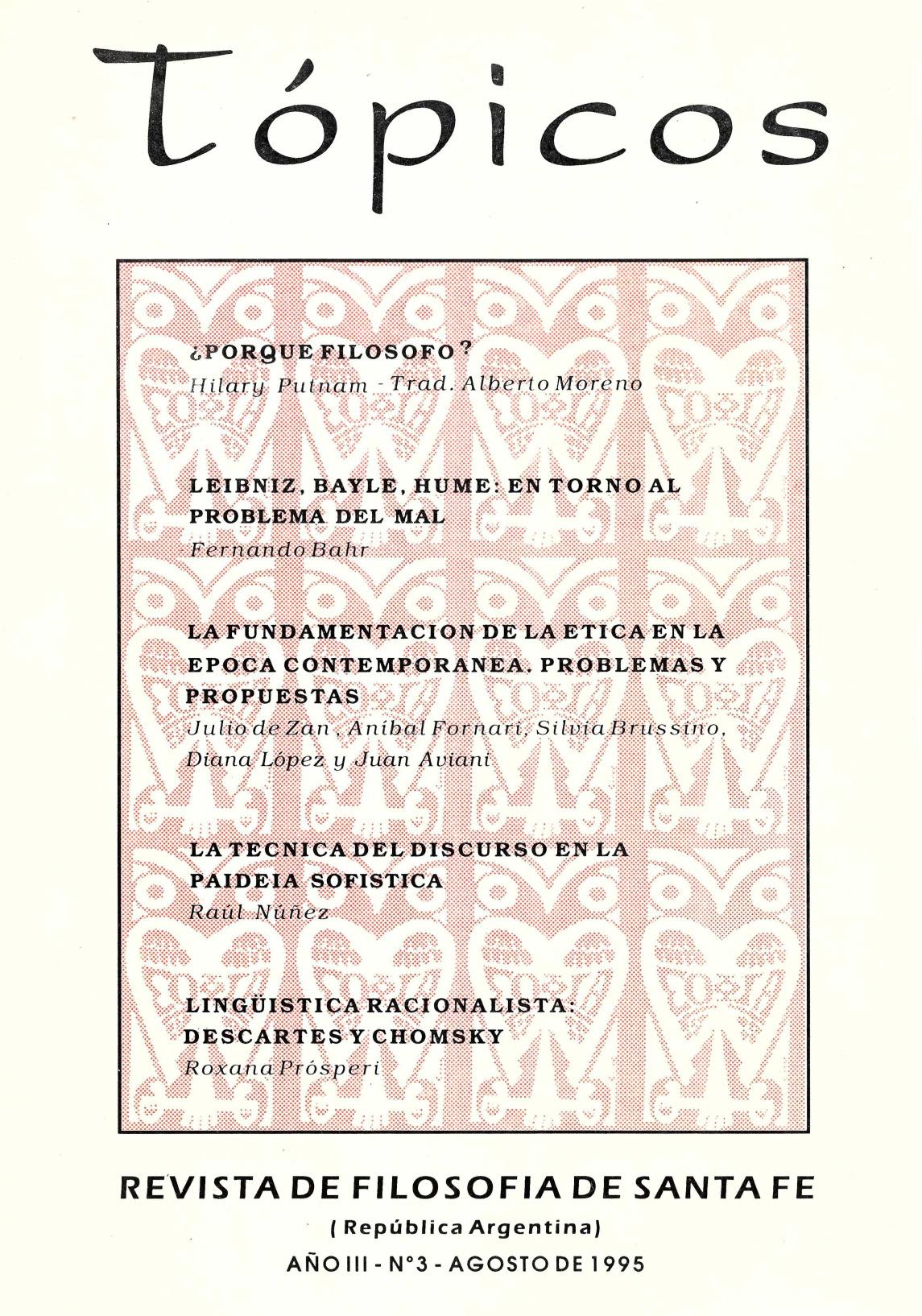 Imagen de tapa de Revista Tópicos Nº 3.