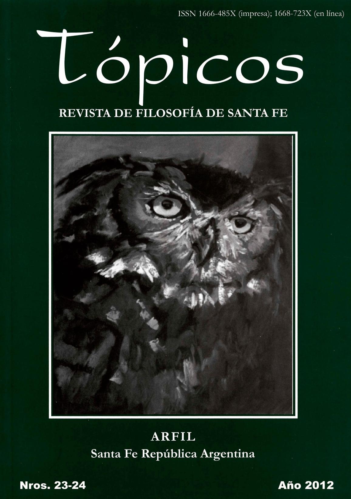 Imagen de tapa de Revista Tópicos Nº 23-24.