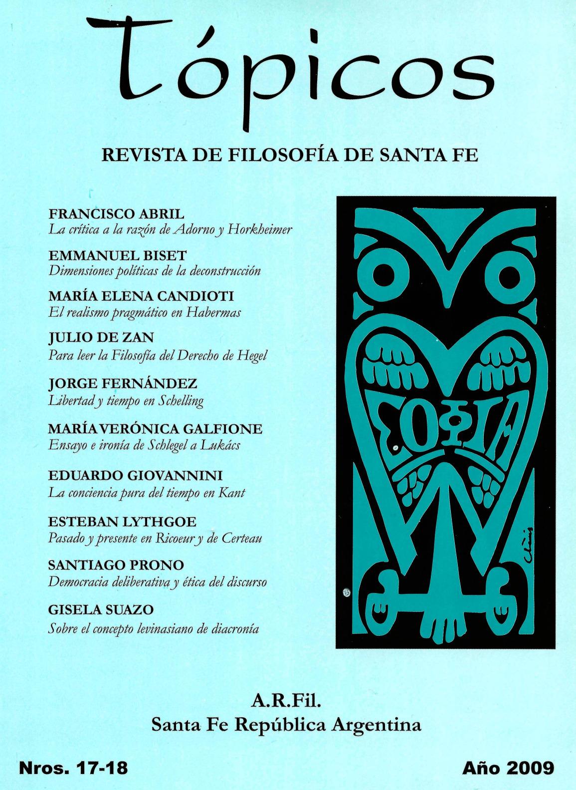 Imagen de tapa de Revista Tópicos Nº 17-18.